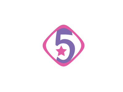 3001, logo, design, pink, purple, 5, star, number, symbol, anniversary, 				media, movie, advertising, sign, music, radio, numar