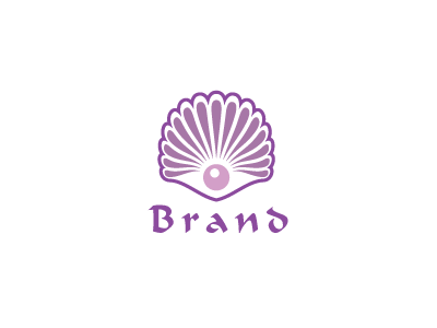 6803, logo, design , shell, mauve, restaurant, food, sea, fruits, pearl,