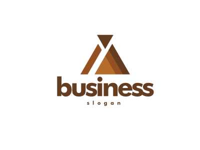 6901 Logo Design Triangle Brown Maroon Construction Timber