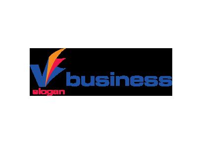 7203 Logo Design Letter V Blue Orange Red
