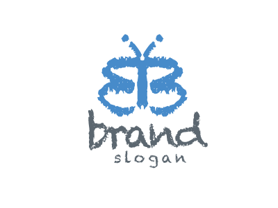 7405 Logo Letter B Butterfly Design Kids Children