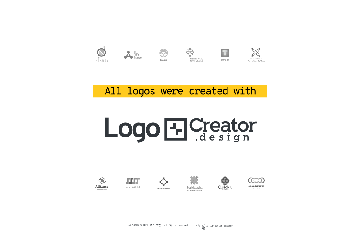 All logos were created with Logo[+]Creator