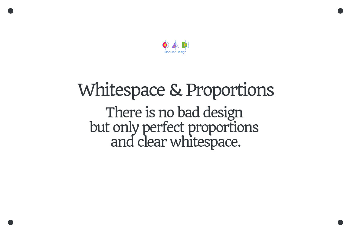 Useful for designers and creatives. Whitespace.