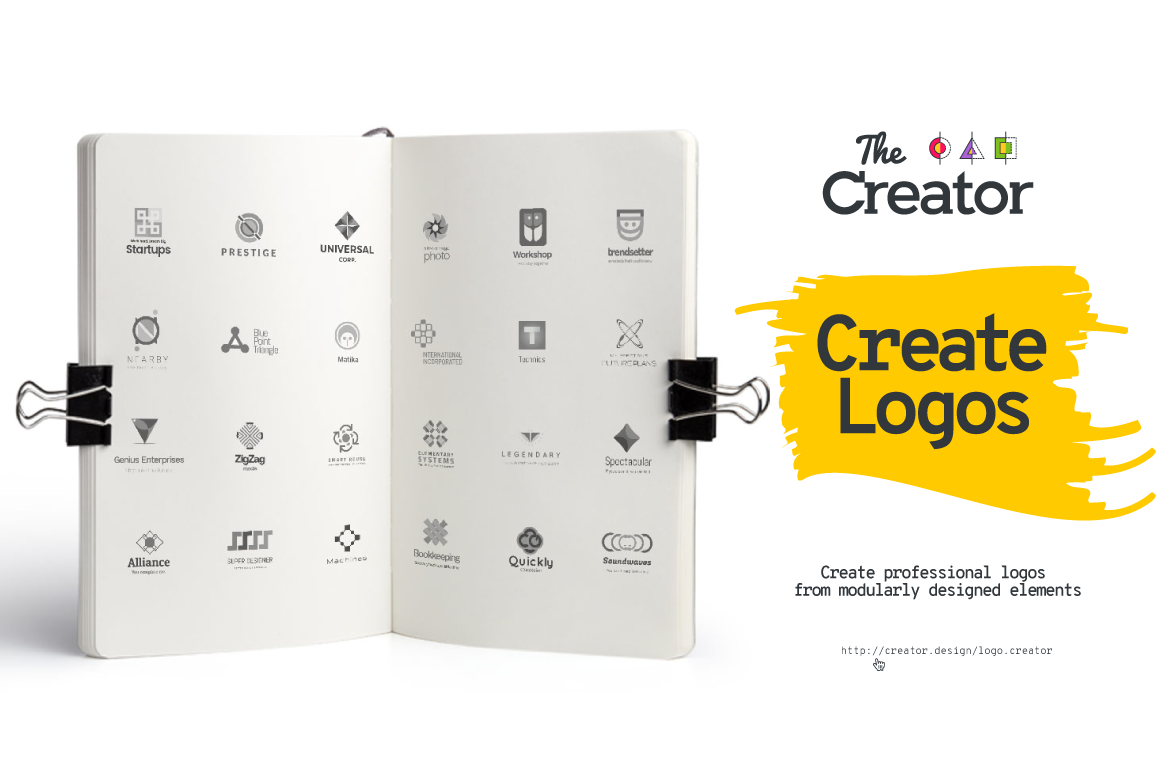 Logo[+]Creator. Create the best and the most suitable logos for startups, entrepreneurs, companies and businesses. Create professional logos from modularly designed digital graphic items.