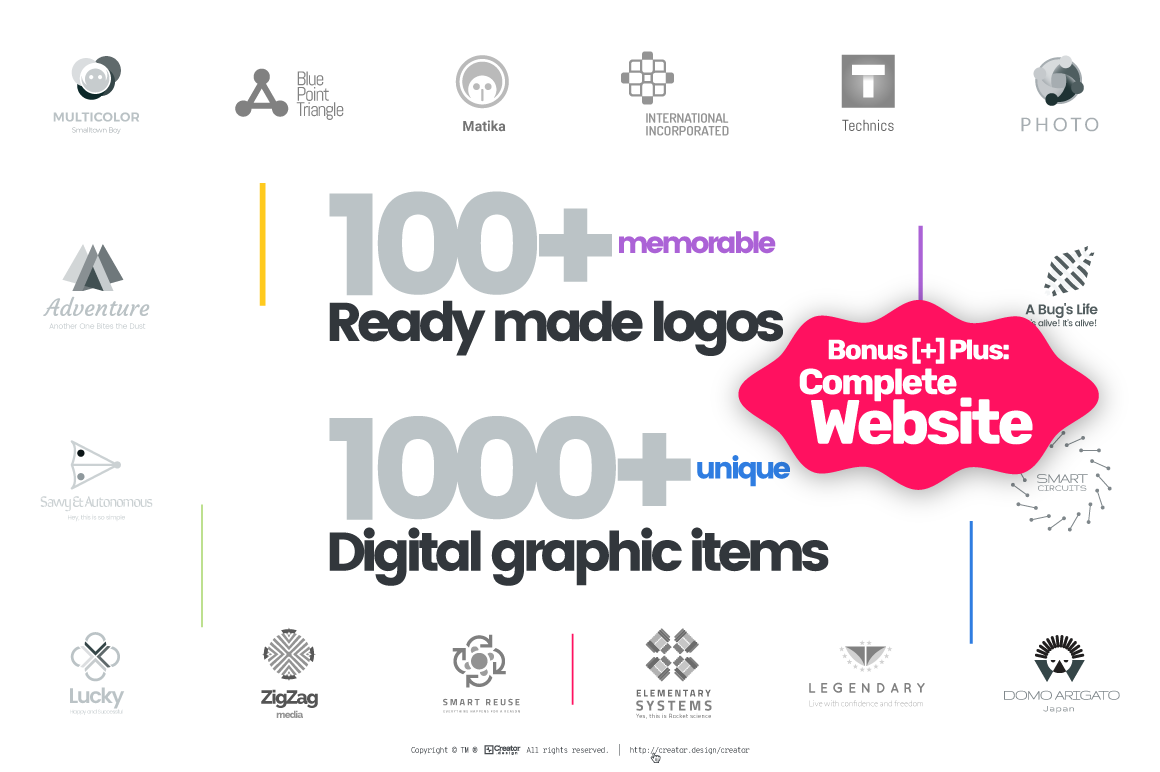 Logo[+]Creator. Create logos for startups, entrepreneurs, companies and businesses.