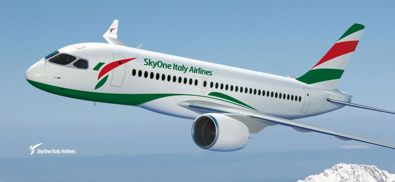 skyone italy airlines logo