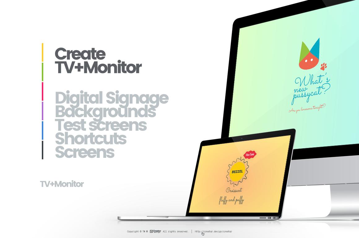screen design creator create graphic design for monitors